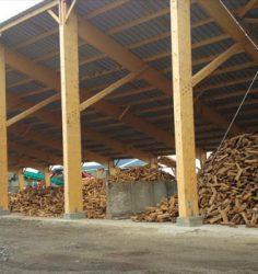 Stockage du bois après séchage